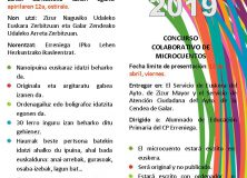 BiOn artean 2019 Concurso colaborativo de microcuentos en euskera. Organizan: Ayuntamientos de Zizur Mayor y Cendea de Galar
