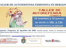 TALLER DE AUTODEFENSA FEMINISTA PARA MUJERES DE TODAS LAS EDADES