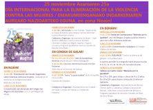 Programa en torno al 25N-Día internacional contra la violencia contra las mujeres.
